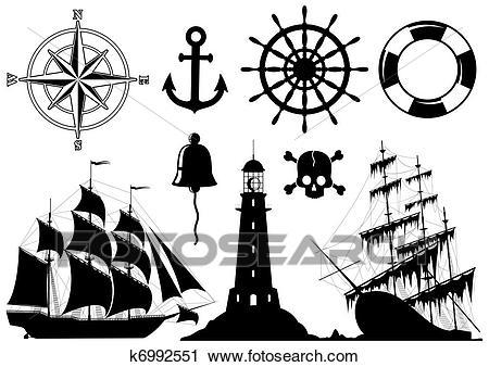 Nautical clipart black and white 4 » Clipart Portal.