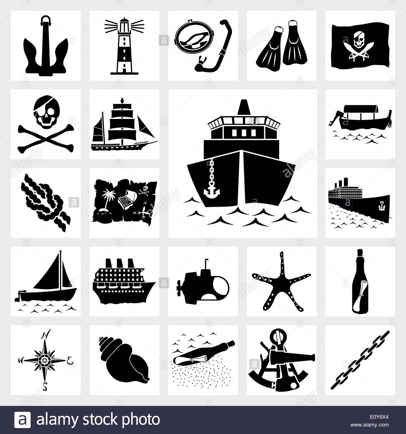 Vector icon set nautical Stock Photo: 69439612.