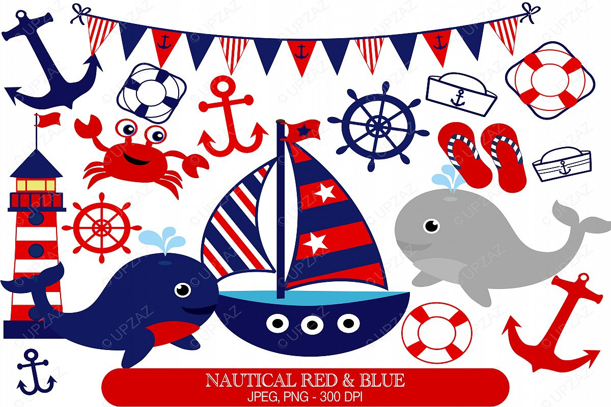 Nautical Clipart Set.