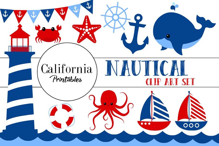 Cute Nautical Clip Art Set ~ Illustrations ~ Creative Market.
