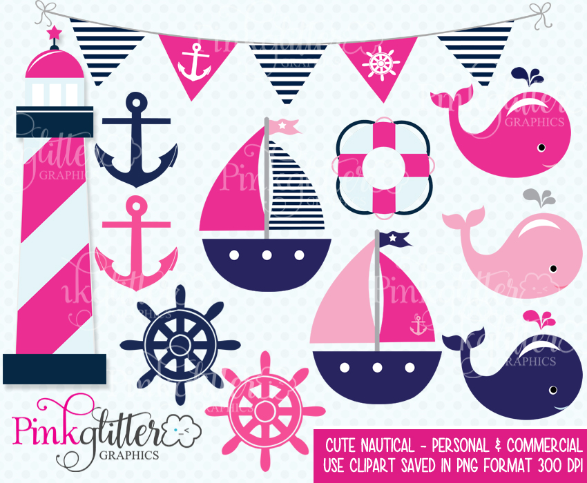 Cute Nautical Clipart.