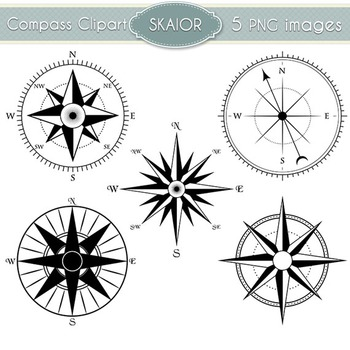 Compass Clipart Nautical Clip Art Marine Scrapbooking Vector Compass Rose.