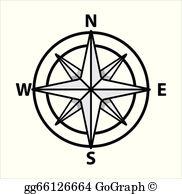 Nautical Compass Clip Art.