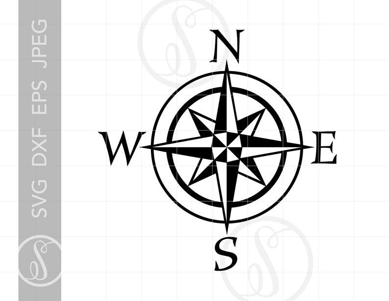 Nautical Compass SVG.