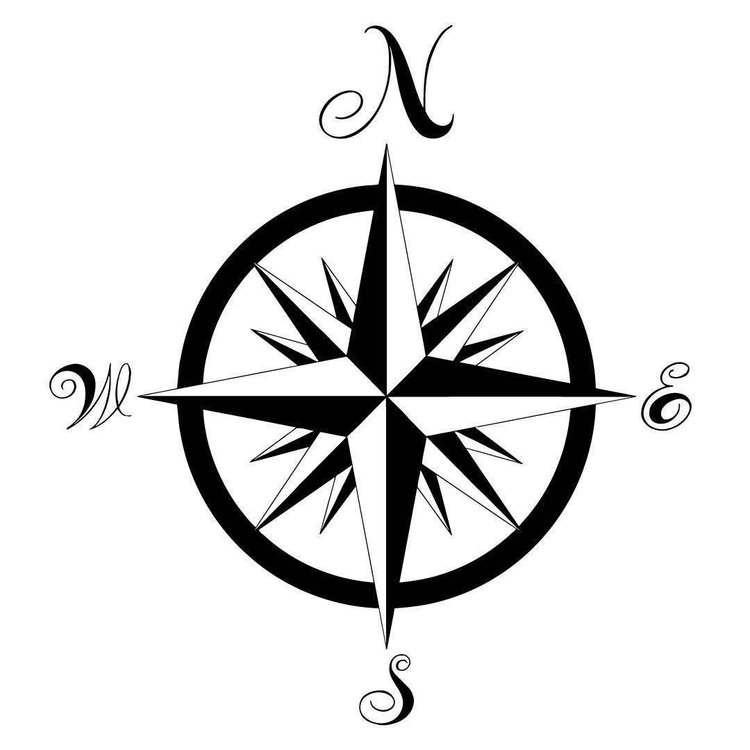 Amazon.com: Compass Wall Decal Nautical Compass Rose.