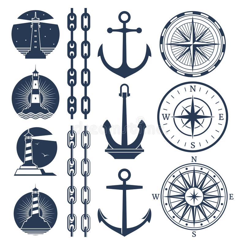 Nautical Compass Stock Illustrations.