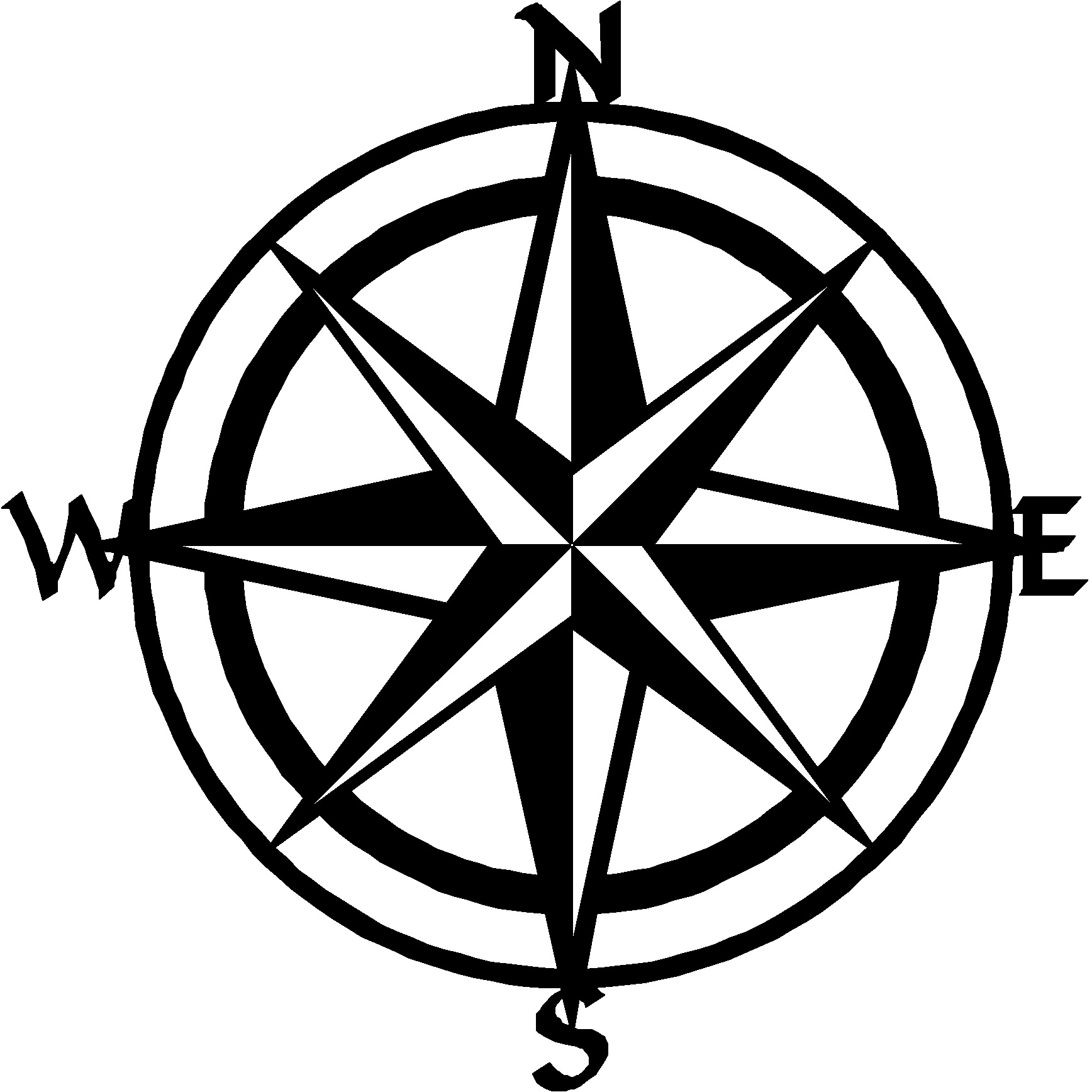 Nautical compass clipart 8 » Clipart Station.