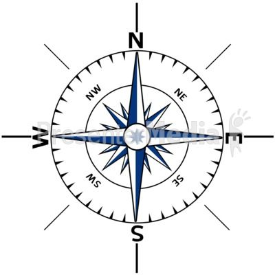 Nautical Compass Outline.