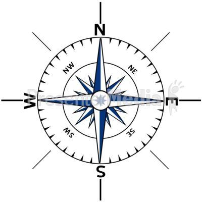 Nautical Compass Outline.
