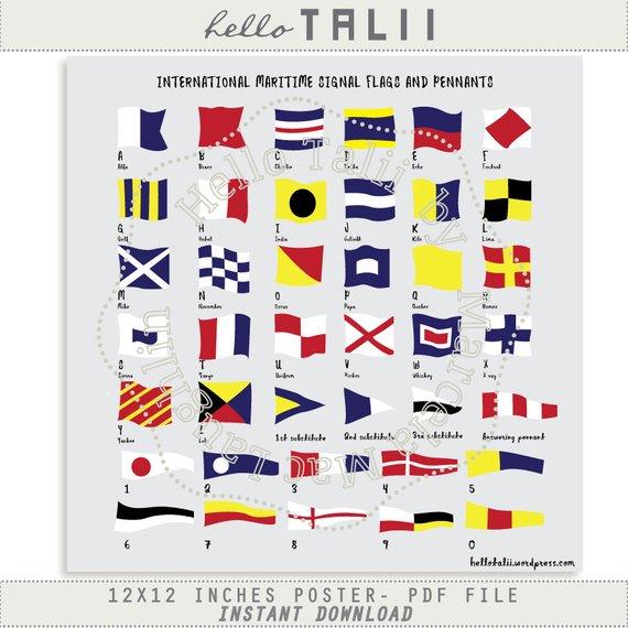 Nautical Flags PRINTABLE POSTER.
