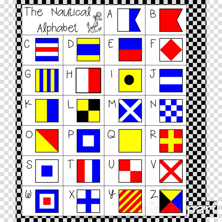 Nautical Flag Alphabet Clipart.