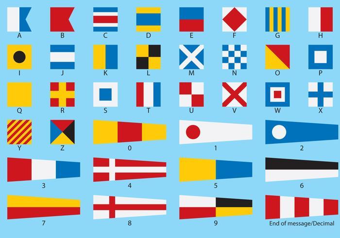 Nautical Flag Vectors.