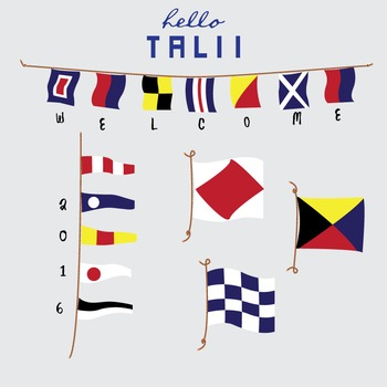 Clip Art: Nautical Flags and Pennants.