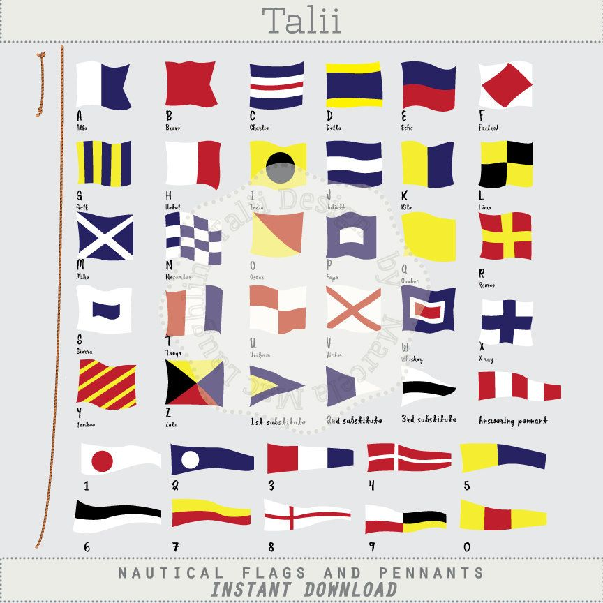 Nautical Flags and Pennants NAUTICAL CLIPART.