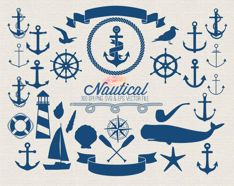 BUY 2 GET 1 FREE nautical clipart.