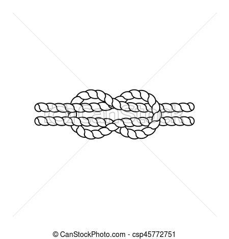 Knot. Vector illustration.