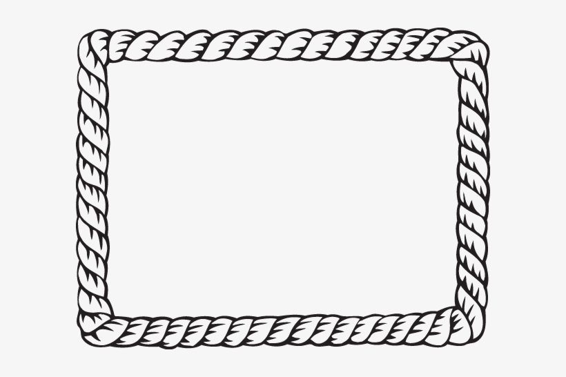 Nautical Rope Border Clipart PNG Image.