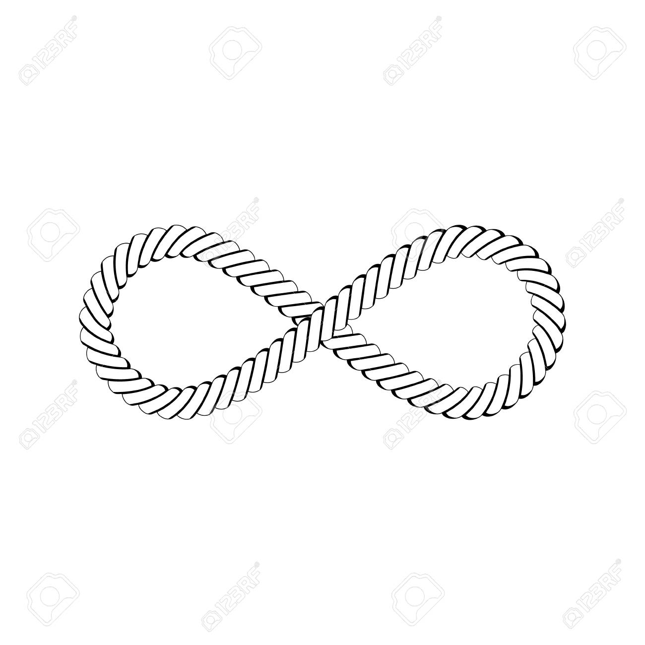Vector illustration nautical rope knots decorative vintage element.