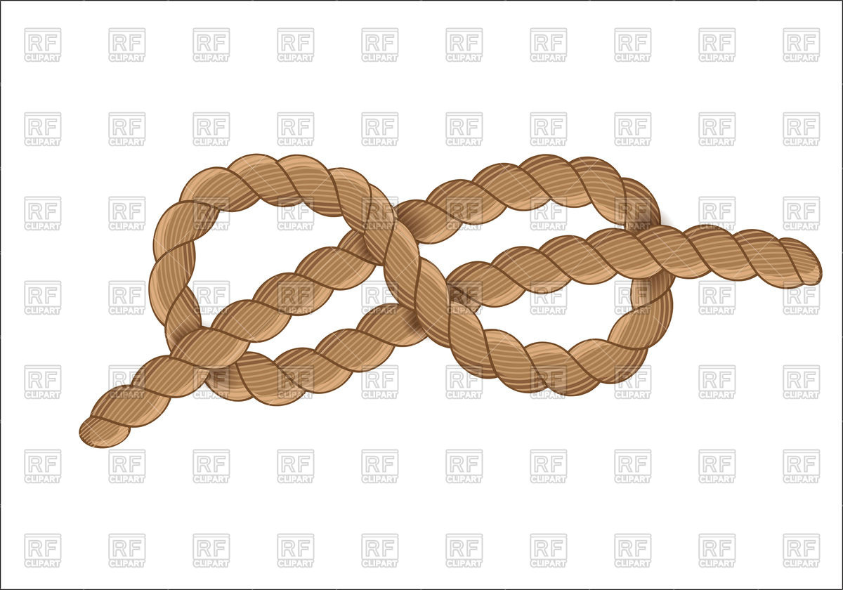 Nautical rope knot Stock Vector Image.