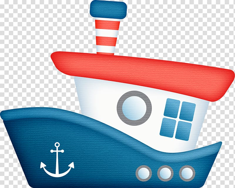 White, red, and blue boat illustration, Tugboat , nautical.