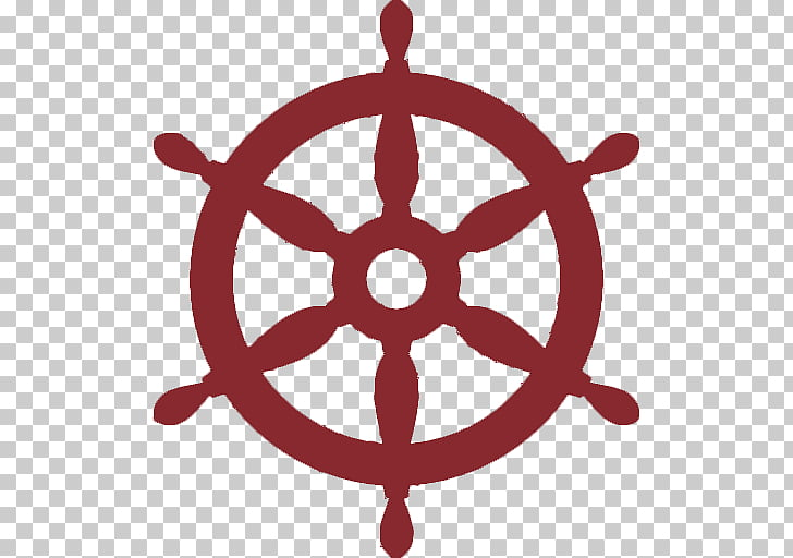 Ship\'s wheel Helmsman Rudder, nautical theme PNG clipart.