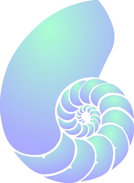 Green And Blue Nautilus Shell Clip Art at Clker.com.