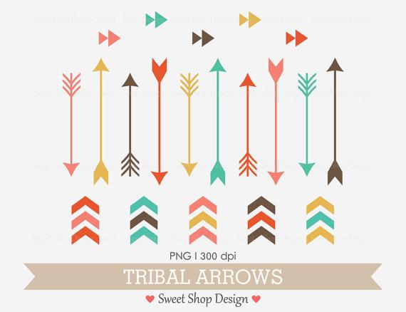 Tribal Arrow Clip Art, Navaho Clip Art, Royalty Free Clip Art, N2.