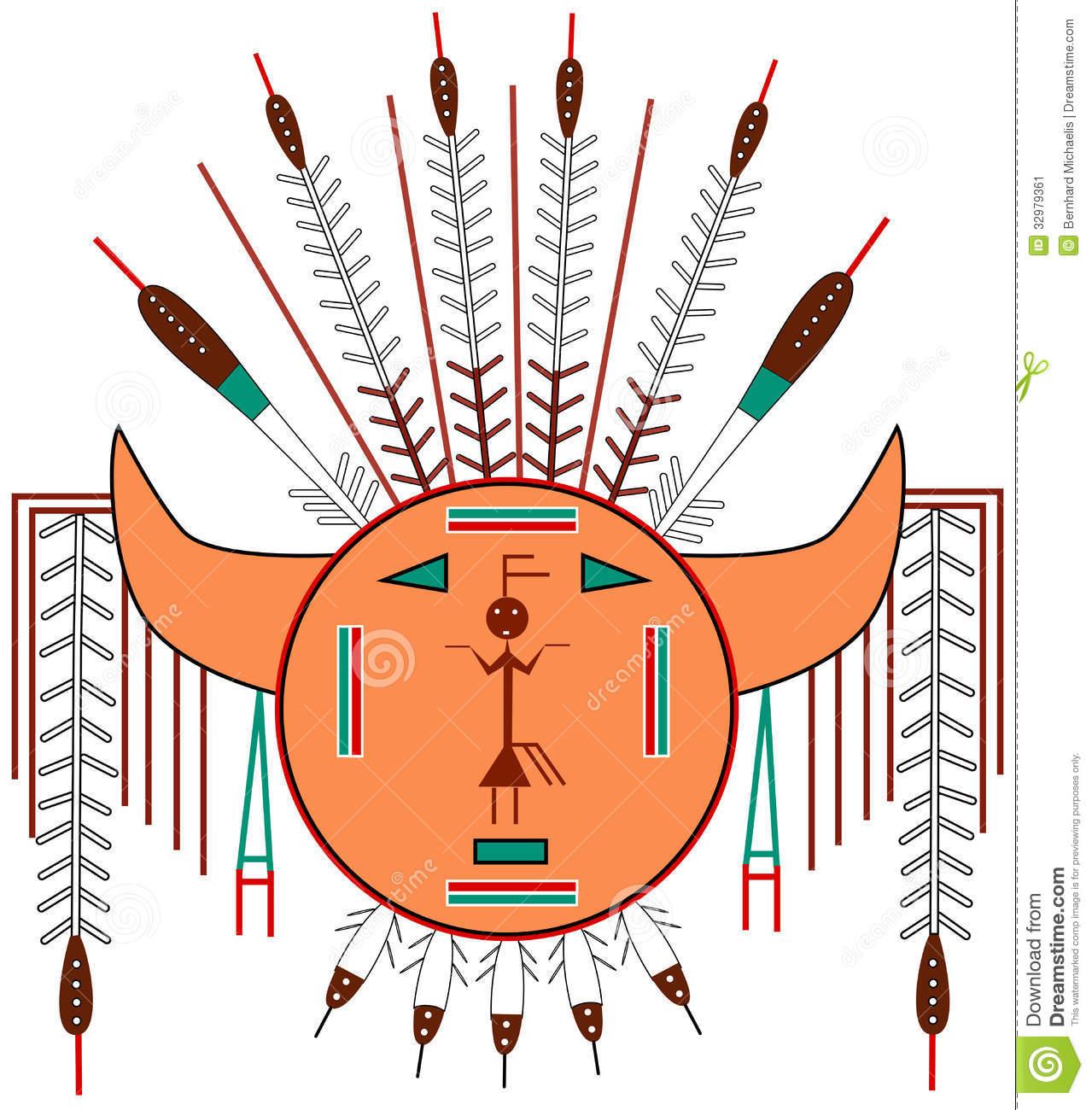 Navajo Sun Stock Image.