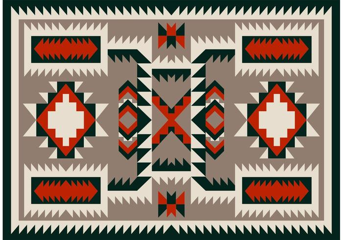 Navajo Pattern Carpet Vector Design.