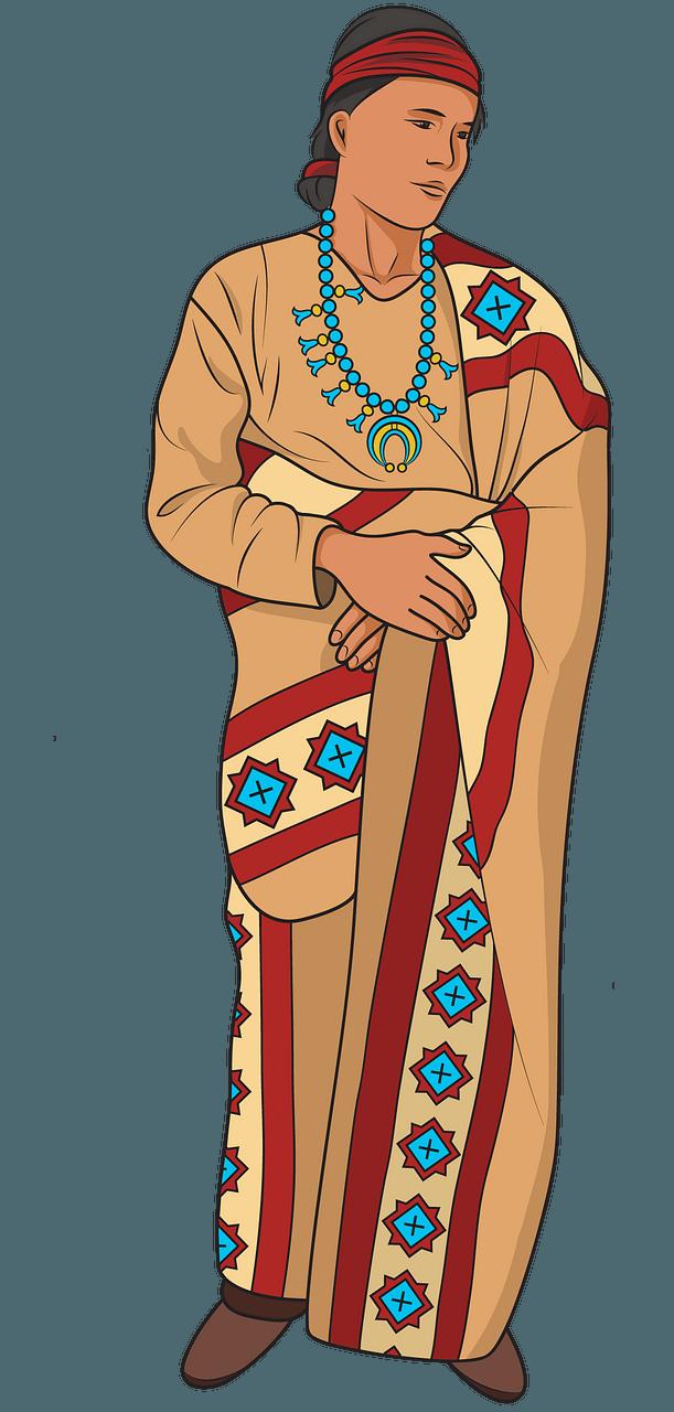 Navajo man clipart. Free download..