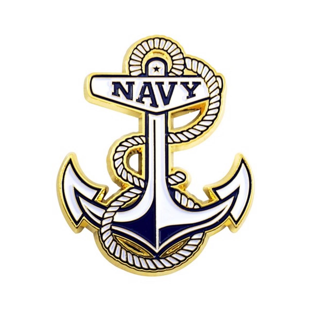 U.S. Naval Academy Color Metal Emblem.