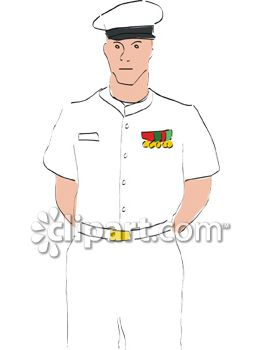 Naval Officer with Medals on His Breast Pocket.