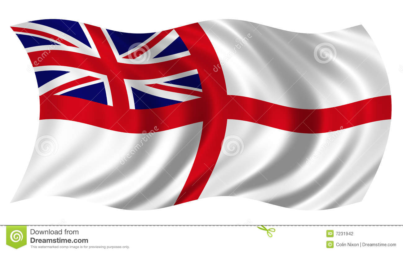 British Naval Ensign Stock Photography.