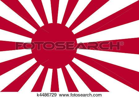 Stock Illustration of Japanese Navy Ensign k4486729.