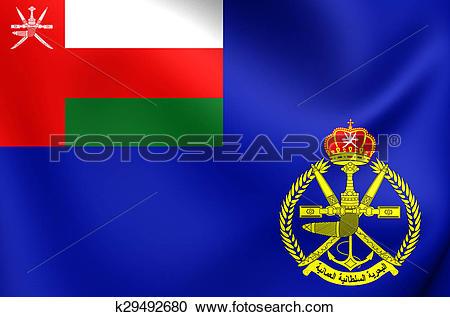 Stock Illustrations of Naval Ensign of Oman k29492680.