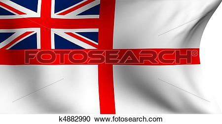 Stock Illustrations of Naval ensign of UK flag k4882990.
