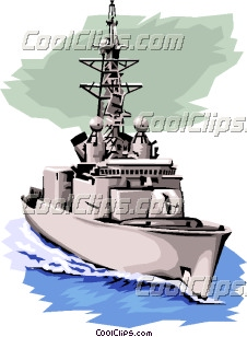 War ship Clip Art.