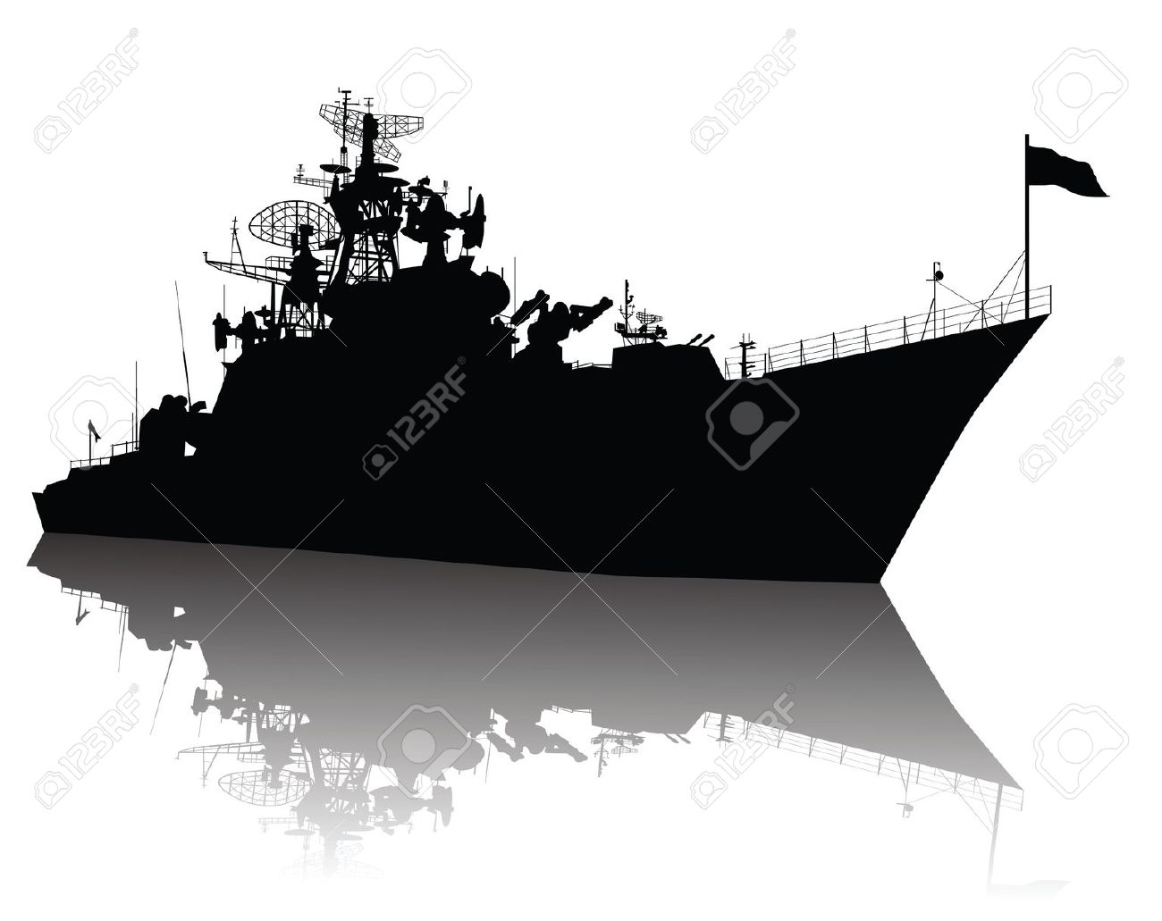 Indian navy ships clipart.