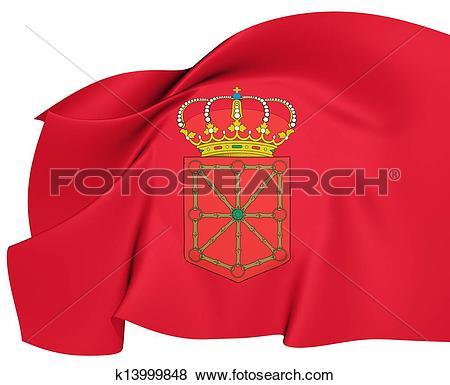 Stock Illustration of Flag of Navarra, Spain. k13999848.
