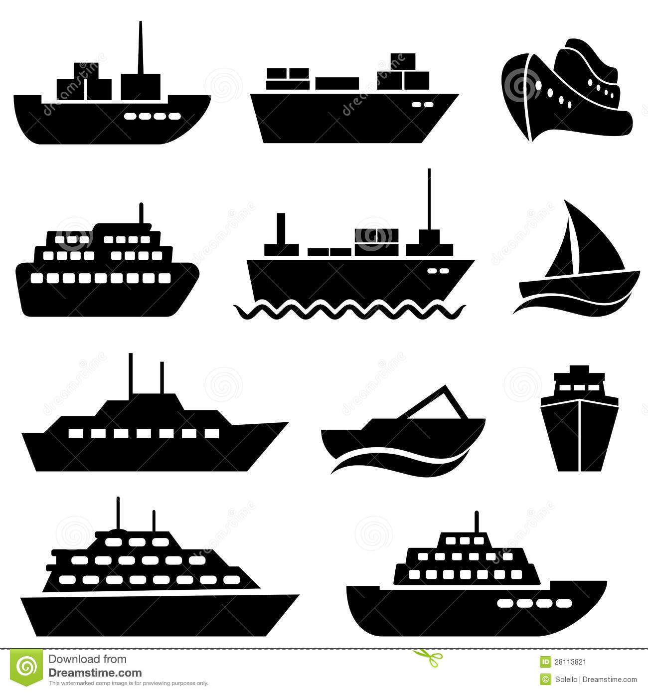 Ship Stock Illustrations.