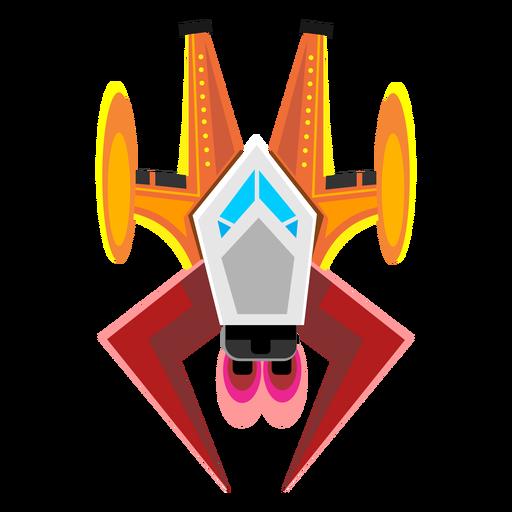 Arcade spaceship icon.