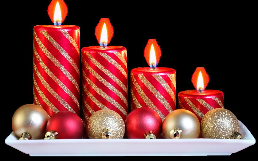 Adornos de navidad con fondo transparente.