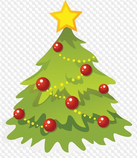 Árboles de Navidad en un fondo transparente.
