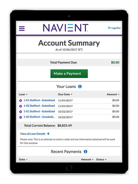 Navient Loans.