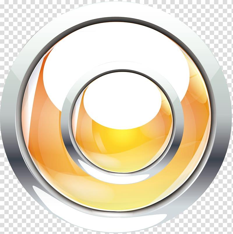 Round yellow and white logo, Button Icon, Navigation button.