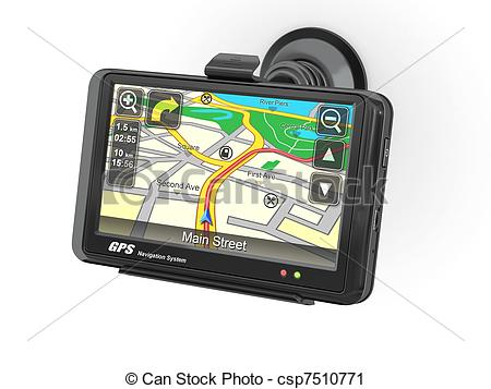 Clipart of Navigation system. Gps. 3d.