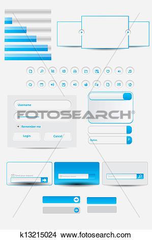Clipart of Web Elements. Site Navigation Menu k13215024.