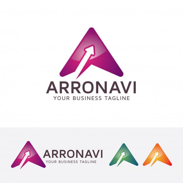 Arrow navigation logo template Vector.