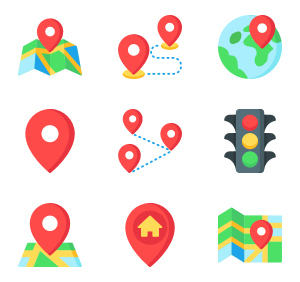 218 navigation icon packs.
