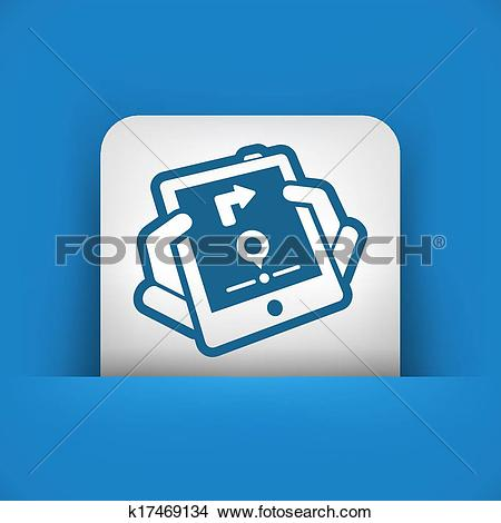 Clipart of Mobile navigation system k17469134.